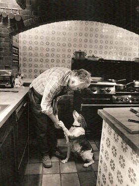 Pierre Franey and dog Kiki